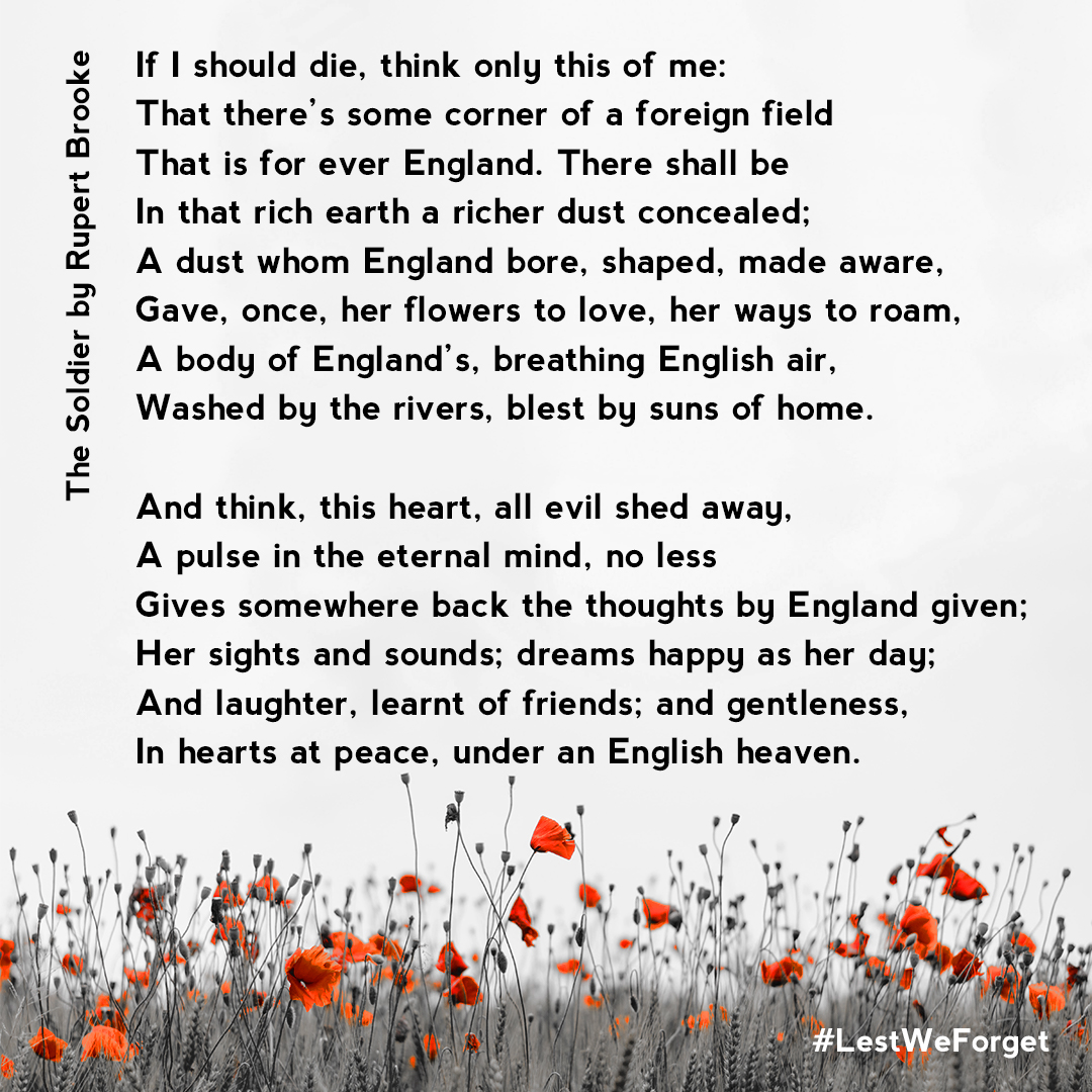 Poem The Soldier Rupert Brooke
